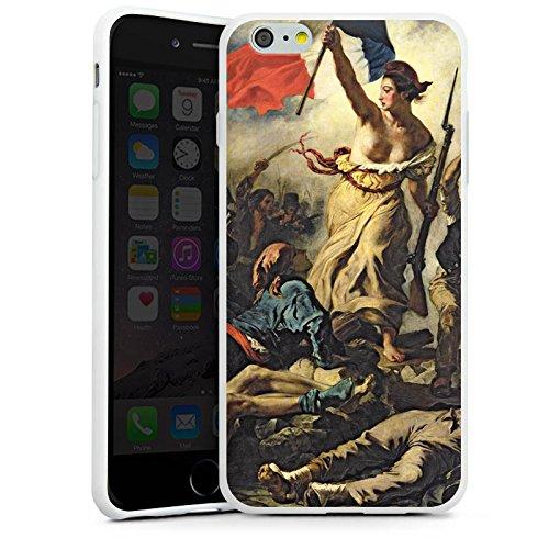Apple iPhone X Silikon Hülle Case Schutzhülle Delacroix Frankfreich Revolution Silikon Case weiß