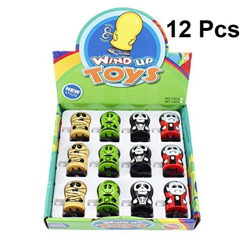 TOYANDONA Wind Up Spielzeug Zombie Vampire Mummy Freak Clockwork Spielzeug für Halloween Party Supplies 12St