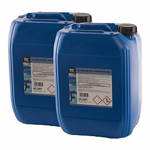Höfer Chemie 2x20 L Pool Algenvernichter - Anti Algenmittel für Schwimmbad & Pool - schnelle Wirkung bei Algen