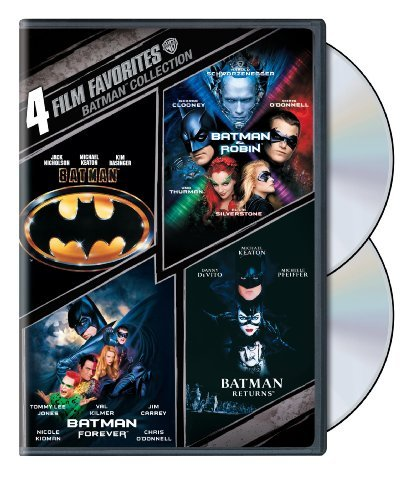 4 Film Favorites: Batman Collection (Batman / Batman Forever / Batman and Robin / Batman Returns) by Michael Keaton