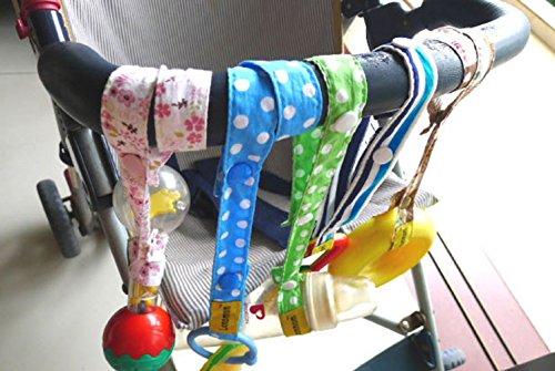 Preisvergleich Produktbild URAQT Baby Flaschen Halter Spielzeug Bügel Gurt, für Kinderwagen/Autositz/Hochstuhl - 6Pcs