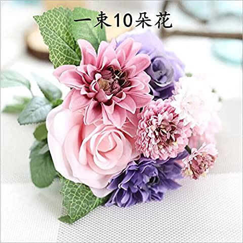 LHTCCC Artificial Flower Living Room,Decorated Bedrooms Floral Light Purple