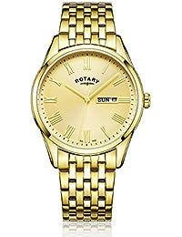 Rotary GB00354/09 Herren-Armbanduhr Analog Quarz Edelstahl