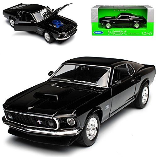 FORD MUSTANG BOSS 302 COUPE I GIALLO 3 modello. Generation 1969-1970 1//24 Welly A
