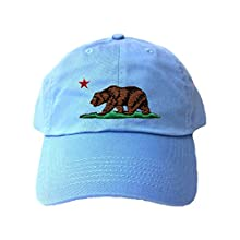 c911338d12a Adjustable Sky Blue Adult California Republic Bear Embroidered Dad Hat Image