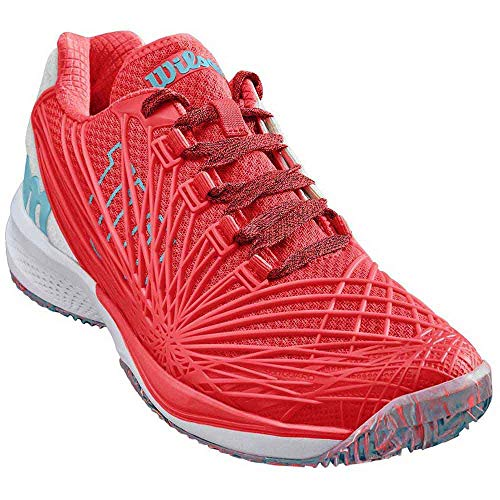 Wilson Damen KAOS 2.0 Clay Court W Tennisschuhe, Orange (Fiery Coral/White / Blue Curacao 000), 40 1/3 EU