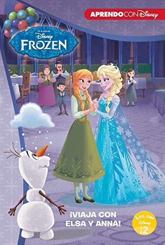 Frozen. ¡Viaja con Elsa y Anna! (Leo con Disney Nivel 2): Un monstruo de hielo | La misteriosa nota de Elsa | Un concurso helado (Noche Y Dia Letra)