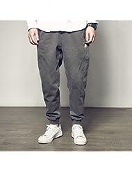Pantalones de harén lavado Vintage Vestido de calle americano pie ocio pantalón,2XL