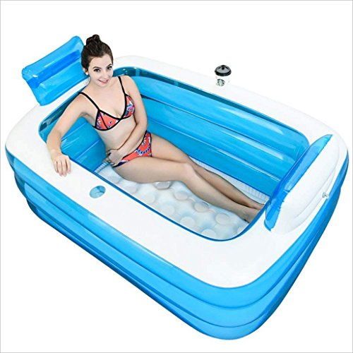 Faltbare Badewanne Aufblasbare Badewanne verdickt Erwachsene Wanne faltende Badewanne Badewanne Kunststoff Badewanne faltbar aufblasbar