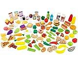 Kidkraft - Juego de piezas de comida Deluxe, 115 piezas (63330)
