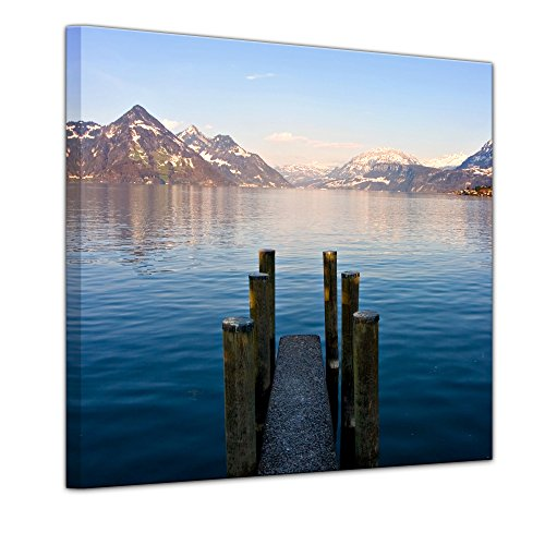 bilderdepot24-cuadros-en-lienzo-steg-ii-80-x-80-cm-listo-tensa-directamente-desde-el-fabricante