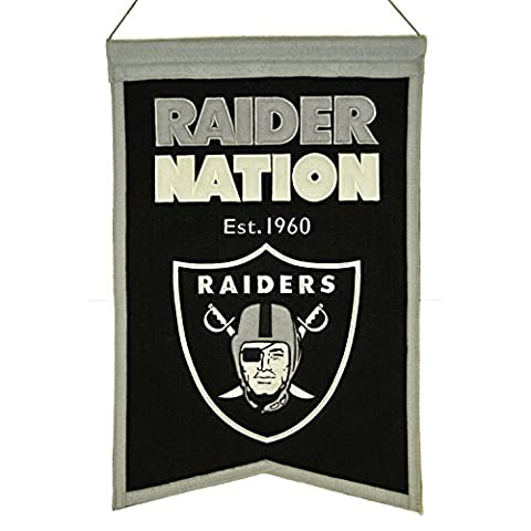 NFL Oakland Raiders Franchise Banner, Black, Small