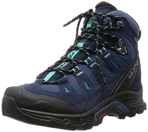 Salomon Quest Prime GTX, Scarpe da Arrampicata Donna, Blu (Slateblue/Deep Bubble Blue), 37 1/3 EU