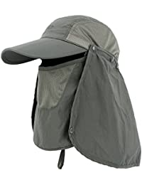 Anyoo Pieghevole Berretto da Baseball Grande Cappello Protezione Solare  Viaggio Sportivo Cappello da Sole Regolabile Velcro d2628e72530b