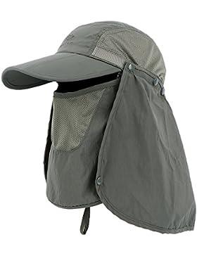 Anyoo Gorra de béisbol Plegable Sombrero Gran protección Solar Deportes Viajes Sombrero de Sol Velcro Ajustable...