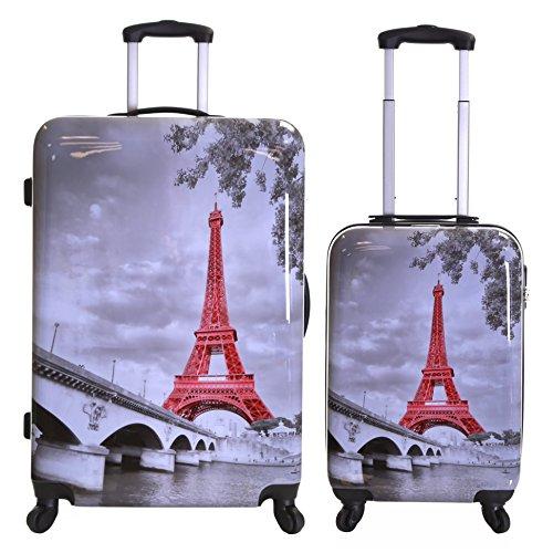 Karabar Falla conjunto de 2 maletas duras, Torre Eiffel