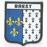 BREST FRANCE FRANÇAIS ÉCUSSON DRAPEAU MONDE BRODÉ PATCH BADGE EXCLUSIVITÉ