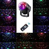 YLOVOW 7 Farben DJ Disco Ball Beleuchtung 3W Sound Aktivierte Musik Weihnachten KTV Party Projektor Bühnenbeleuchtung