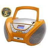 Lauson CP447 CD-Player, Tragbares Stereo Radio, Orange