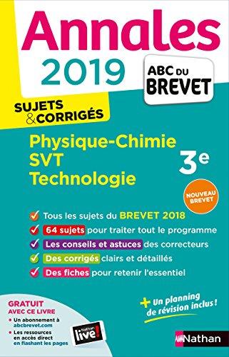 Annales ABC du Brevet 2019 - Physique-Chimie/SVT/Techno par Nicolas Coppens