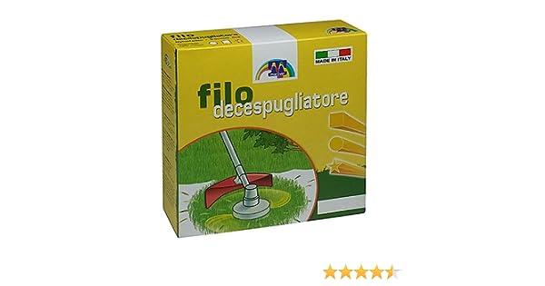 Maniver Filo per decespugliatore quadro diametro 2.4 x 50 mt