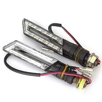 Koolertron - 2 x 15 SMD LEDs Clignotant Feux Indicateur étanche Eclairage Lampe Lumière Ambre DC 12V pour Moto
