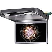 DDAUTO DD1336G Reproductor de DVD Sobrecarga 1080P HD IPS Pantalla Reproductor para Coche Con USB SD HDMI Incorporado Videojuegos Doble Cupula 13,3 Pulgadas Gris