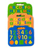 Elite Enterprises Combo Of 69 Pcs Washable, Floating And Colorful Eva Foam Alphabets & Numbers For Kids To Learn Spell, Identify Color & Calculate (Capital & Small Letters With Numbers And Different Shapes) Pre-School And Gift Pack