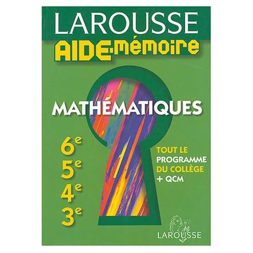 Mathématiques : 6e, 5e, 4e, 3e