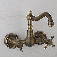 Hiendure® Miscelatore cucina classico antico in ottone rubinetto della cucina