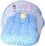 #7: Joy Lap Baby Mosquito Net Bedding Set With Toy (Blue)