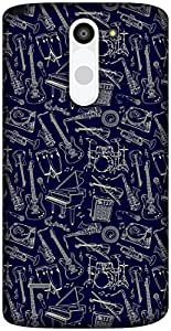 The Racoon Lean Dark Music Doodle hard plastic printed back case / cover for LG G3 Stylus
