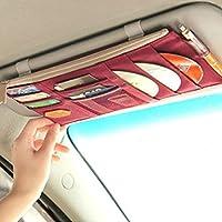 Da auto per visiera parasole, a porta CD con borsa portaoggetti