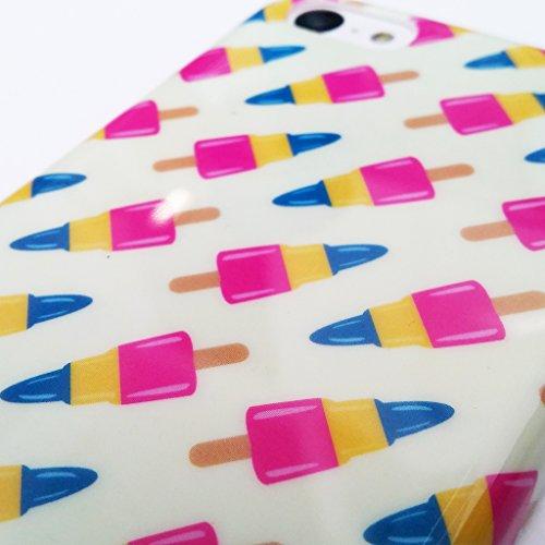 Stylebitz / Coque motif bâtonnets de glace pour Samsung Galaxy S4, SIV, i9500 avec chiffon de nettoyage Stylebitz et film protecteur