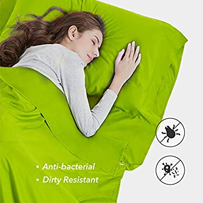 Silk Soft Sleeping Bag Liner - Lightweight Travel Sheet Camping Sleep Bag Prevent Dirty On Business Hotel 4