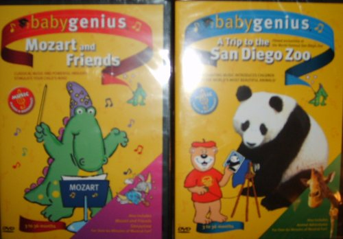 Baby Genius 2 Pack - A Trip to the San Diege Zoo and Mozart and Friends