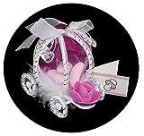 bijoux feminin 5 Carrosses à Dragées ou Confiseries Sacs Organza + Etiquettes Baptême Fille
