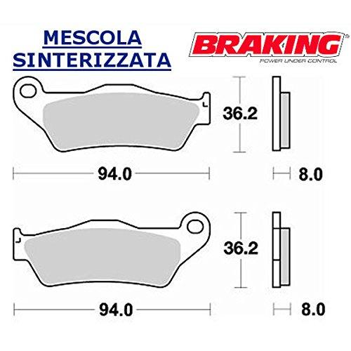 COPPIA PASTIGLIE ANTERIORE BRAKING PER KTM LC4 ENDURO6401999 99