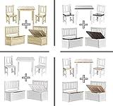 Impag Kindersitzgruppe aus europäischem Kiefer Massivholz 1 Tisch