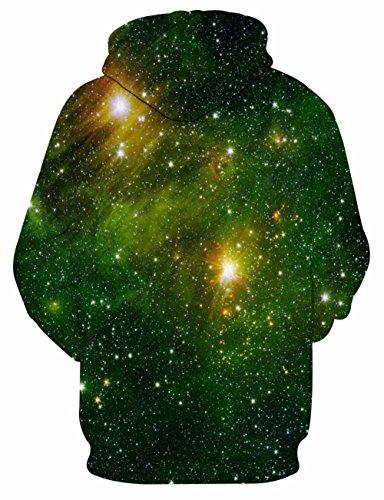 LAIDIPAS Unisex Realistische 3D Galaxy bedruckte große Taschen Drawstring Pullover Hoodie Kapuzen Sweatshirt Style 3