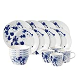 Royal Doulton Pacific Geschirr-Set, 4-teilig, porzellan, blau/weiß, 32.5 x 32.5 x 31.5 cm