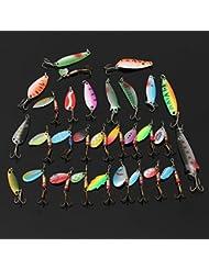 Generic YC-UK2–160104–106< 1& 5846* 1> OOKS uklures Pike señuelos Lucio Salmón 30metal Mixed cebos Bass Trucha Spinner pesca pescado ganchos UK 30metal mi