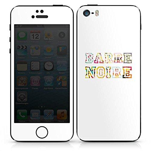 Apple iPhone SE Case Skin Sticker aus Vinyl-Folie Aufkleber schrift fashionweek college DesignSkins® glänzend