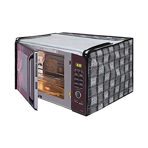 Glassiano Microwave Oven Cover for Samsung 23 Litre Solo Microwave Oven MS23F301TAK/TL Black