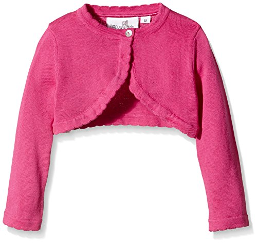 Happy Girls Mädchen Strickjacke Basic Bolero, Einfarbig, Gr. 104, Rosa (pink 36)