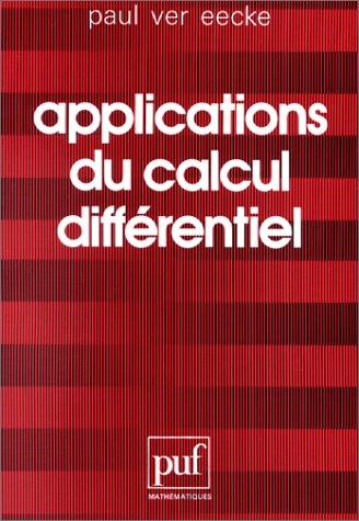 Applications du calcul différentiel par Eecke Ver Paul