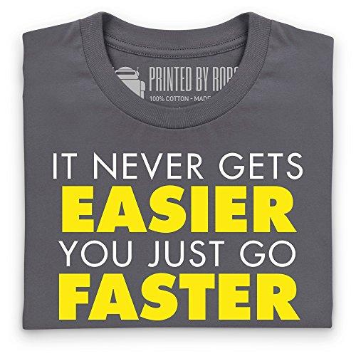 It Never Gets Easier T-Shirt, Herren Anthrazit