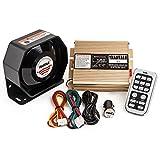 Yhaavale 100 W X5U Autohupe, Polizei-Sirene & Metall, ultradünn, flacher Lautsprecher, DC12 V, mehrfarbig, kabellose Fernbedienung mit Mikrofon, Auto-Verstärker Lautsprecher, Notfall-Sirene Elektronisches PA-System für Auto