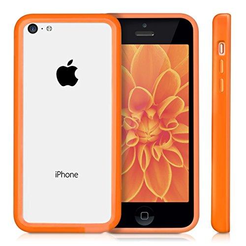 kwmobile TPU Silikon Bumper Hülle für Apple iPhone 5C - Protection Rahmen Schutzhülle Case Cover in Pink .Orange