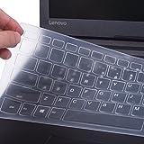 CaseBuy Ultra Thin Silicone Keyboard Protector Skin for Lenovo Flex 5 14 inch, Flex 5 15.6 inch, Lenovo Yoga 720 15 15.6 inch Laptop Anti Dust Keyboard Case, Clear